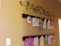 I want to do this in my daughter's room. It looks much cleaner than the clothes pin/twine method (which I also love).