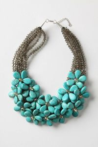 Field Nap Necklace: turquoise & moonstone daisies