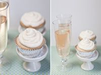 champagne cupcakes... with a dash of sparkle