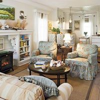 cozy colors and comfy seating arrangement