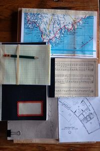 recycled scrap paper notebooks