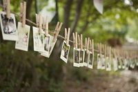 Photo garland with clothes pins - super cute!