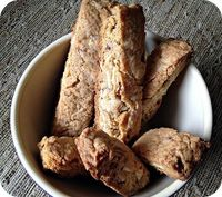 Cinnamon Almond Biscotti. Cannot wait to make this & enjoy a nice cup of coffee & convo with my sweetie!