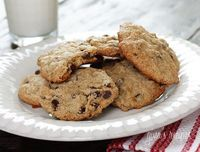 low-fat choc chip cookies