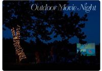 outdoor movie night - with blankets as a screen!