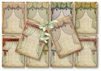 vintage theatre curtains tags