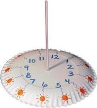 paper plate sundial - perfect for a weather unit