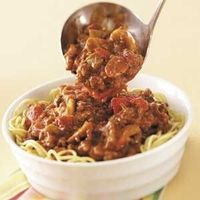 hearty spaghetti sauce- without pasta- 148 cal and 12 g carbs