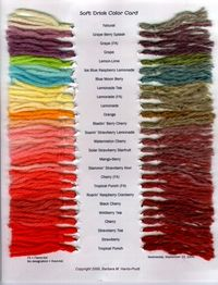 Kool-Aid Dye Chart / crochet ideas and tips - Juxtapost