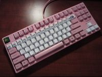 Pink keyboard with Nyan cat and Triforce! /need