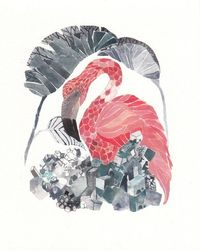 Flamingo and Salt - Archival Print