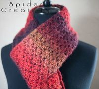 Variegated Red Scarf Crochet $25.00