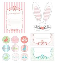 Vintage Easter Brunch Printables