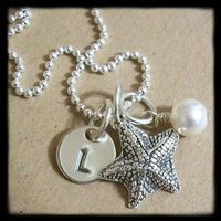 etsy starfish necklace
