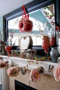 Tattertots & Jello Gorgeous Valentine Mantel