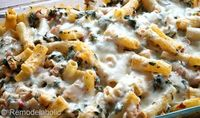 Cheesy Spinach & Chicken Bake