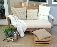recycle pallet into outdoor sofa