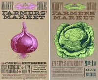 Farmer's Market Posters. Very well done.