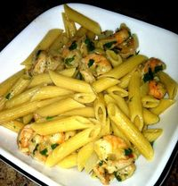 Healthier Shrimp Scampi- 342 calories per serving