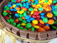 M&M Barrel Cake: Birthday cake I made for a party
