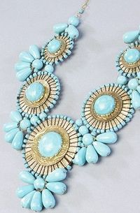 gold + turquoise.