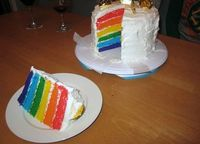 rainbow cake. so fun for a kids birthday party!