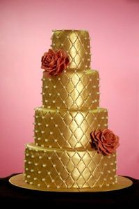 Gold Quilted Cake