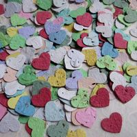 Plantable Herb Hearts - figure out a way to make this -- the kindergarten pulp paper mix comes to mind