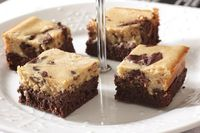 Peanut butter cheesecake brownie