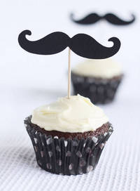 Moustache Cupcakes A Spoonful of Sugar