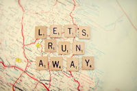 lets run away Art Print by Shannonblue