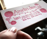 Letterpressed birth announcements. So gorgeous!
