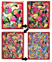 A step by step lesson in making abstract art