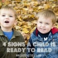 4 signs a child is ready to read.