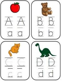 ABC tracer cards - free printables, perfect for beginning writers, beginning sound sorts and more