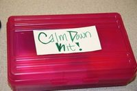 Calm Down Kit - helps kids get control of their emotions. I have a few kids who need this!