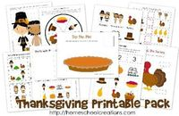 Thanksgiving printables for preschool and kindergarten