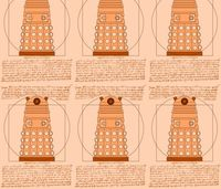 Vitruvian Dalek fabric by studiofibonacci on Spoonflower - custom fabric