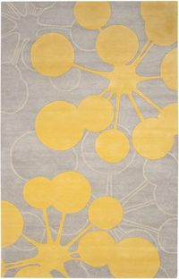 love this grey and yellow rug