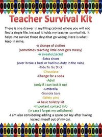 image relating to Teacher Survival Kit Printable named Article content very similar in direction of: Instructor Survival Package - Juxtapost