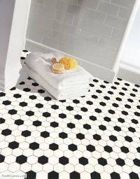 Subway tile with white grout.