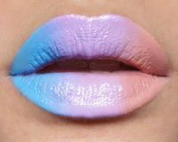 "Lip Ombre using Lime Crime lipsticks: (From left) ""No She Didn't"", ""D'Lilac"" and ""Coquette"". www.limecrimemake..."