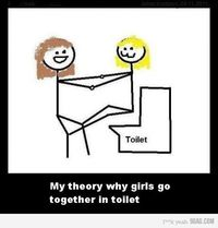 My theory why girls go together in toilet