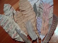 Cool paper feathers!