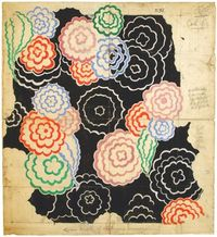sonia delaunay, Textile design #253, 1928-30. Gouache, ink, and pencil on paper.