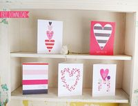 Love these free Valentine's card printables!