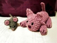 Mouse and cat crochet