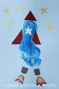 footprint rocket ... this boy loves outer space!