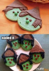witchy cookies nailed it from craftfail.com