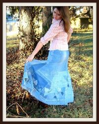 Vineyards denim skirt